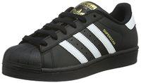 adidas Unisex-Kinder Superstar Foundation Low-Top Sneaker - Schwarz (Core Black/Ftwr White/Core Black)
