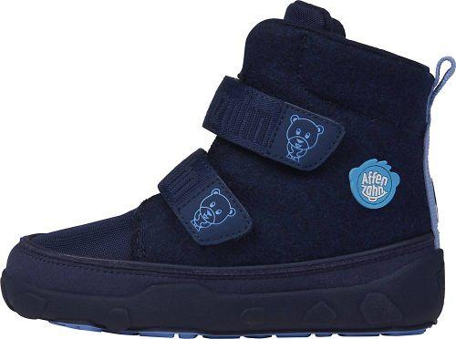 Affenzahn, Winterstiefel Bär in blau, Stiefel für Jungen