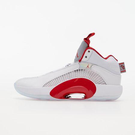 Air Jordan XXXV White/ Fire Red-Metallic Silver