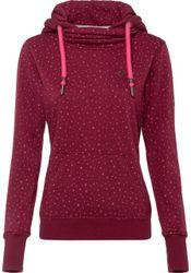 alife and kickin Kapuzensweatshirt »LOLITA« verspielter Hoodie mit Kontrastdetails und Allover-Design