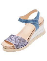 Brako Damen Sandalen Kerstin jeansblau sandaletten