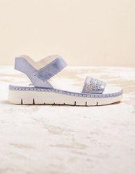 Brako Damen Sandalen Thomia jeansblau sandaletten - auch in Übergrößen