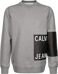 Calvin Klein Jeans Herren Sweatshirt Calvin Jeans Logo REG Crew Neck weißS