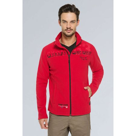 CAMP DAVID Funktionsfleecejacke Fleecejacken rot Herren Gr. 48