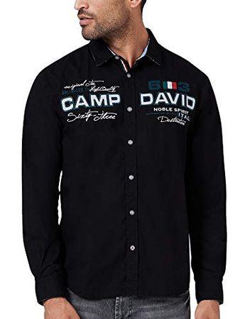 Camp David Herren Langarmhemd mit Artworks