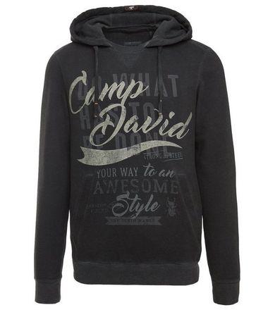 CAMP DAVID Kapuzensweatshirt mit innenliegender Kängurutasche