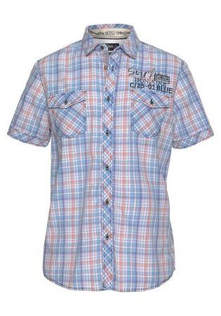 CAMP DAVID Kurzarmhemd mit Karo-Muster