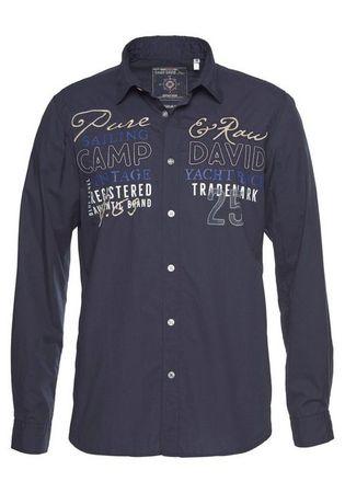 CAMP DAVID Langarmhemd mit Frontprint