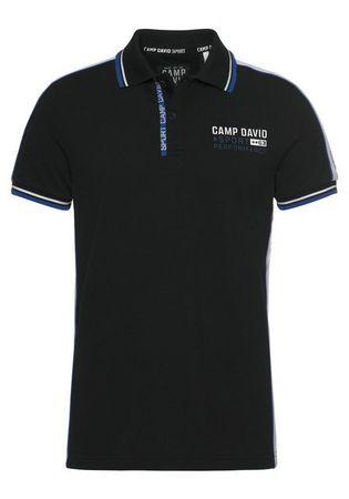 CAMP DAVID Poloshirt mit Logobrustprint