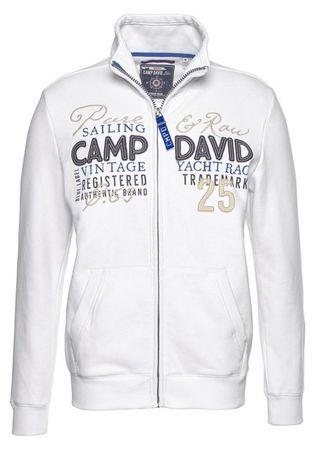 CAMP DAVID Sweatjacke mit Frontprint