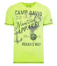 CAMP DAVID T-Shirt mit Ausbrenner-Effekten
