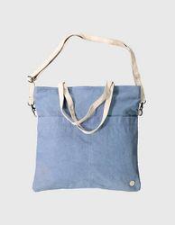 Deerberg Damen Canvas-Tasche Milly blau-washed