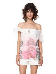 Desigual Damen Bluse Blouse Sleeveless Alyssa Woman PINK, X-Small
