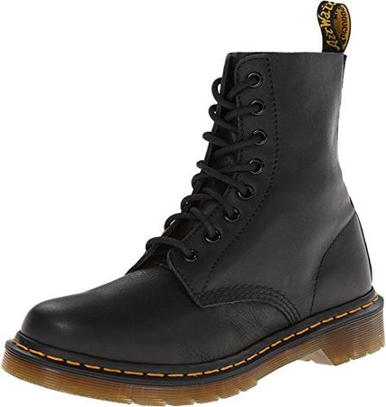 Dr. Martens PASCAL Virginia BLACK Damen Stiefel , Schwarz (Black)