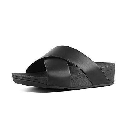 Fitflop Damen Lulu Cross Slide Sandalen, Schwarz (Black 001)