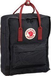 Fjällräven Rucksack / Daypack Kanken Black/Ox Red (16 Liter)