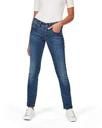 G-STAR RAW Damen Midge Saddle Straight Jeans