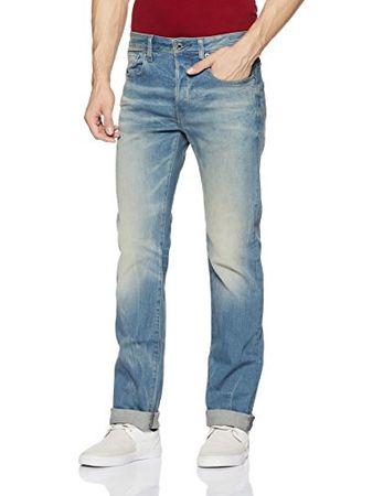 G-STAR RAW Herren Jeans 3301 Straight Fit Blau (lt aged 6541-424) 28W/34L