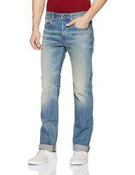 G-Star RAW Herren Straight Leg Straight Jeans 3301 Straight 51002 - 6541, Gr. W38/L32, Blau (Lt Aged 424)