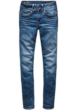 G-Star RAW Slim-fit-Jeans »Midge Mid Straight Wmn« mit Used-Effekten