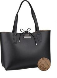 Guess Handtasche Bobbi Inside Out Tote Black/Brown (innen: Braun)