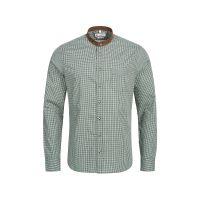 G'WEIH & SILK Trachtenhemd Langarmhemden grün Herren Gr. 54/56