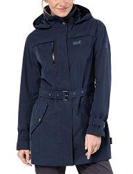Jack Wolfskin Damen Kimberley Coat Atmungsaktiv Wasserdicht Winddicht Outdoor Funktionsmantel Trenchcoat Mantel