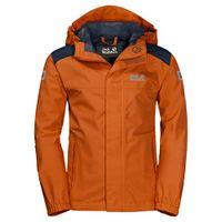 Jack Wolfskin Herren Oak Creek Jacket Atmungsaktiv Wasserdicht Winddicht Reflektoren Outdoor Wetterschutz, Regenjacke Wetterschutzjacke