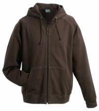 James & Nicholson Herren Kapuzenpullover Hooded Jacket Braun (Brown), X-Large