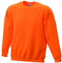 James & Nicholson Herren Round-Sweat-Heavy ÜG Sweatshirt, (orange), XXXX-Large