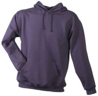 James & Nicholson Herren Sweatshirt Hooded Sweat Rot (aubergine) Small
