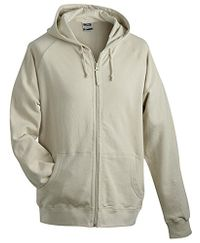 James & Nicholson Hooded Jacket | stone | XXL im digatex-package