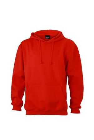 James & Nicholson Unisex Kapuzenpullover Sweatshirt Hooded Sweat rot (Tomato) X-Large