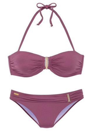 LASCANA Bügel-Bandeau-Bikini mit eleganter Zierschnalle