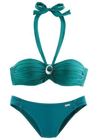 LASCANA Bügel-Bandeau-Bikini mit Zierschnalle zwischen den Cups