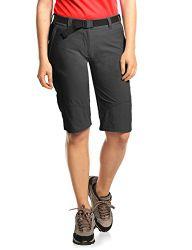 MAIER SPORTS Damen Bermuda Lawa aus 90% PA 10% EL in 25 Größen, Outdoorhose/ Funktionshose/ Shorts inkl. Gürtel, bi-elastisch, schnelltrocknend und wasserabweisend