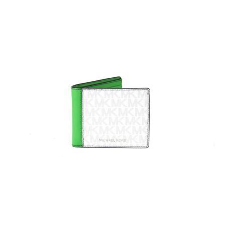 Michael Kors, Cooper Slim Mini MK Logo Billfold Wallet Weiß, Herren, Größe: One size