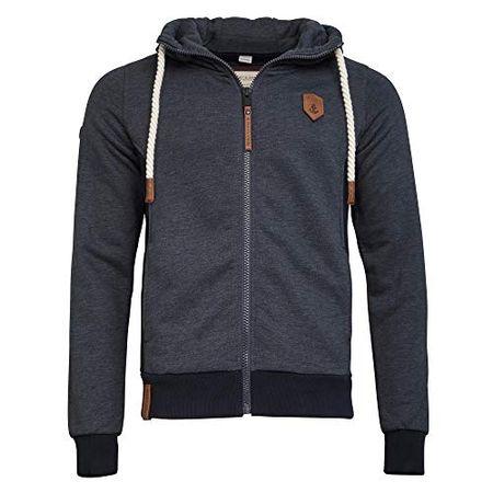 Naketano Male Zipped Jacket Birol Indigo Blue Melange, M