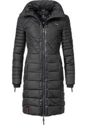 Navahoo Steppmantel »Ronin« hochwertiger Winter Mantel mit Kunstleder-Details
