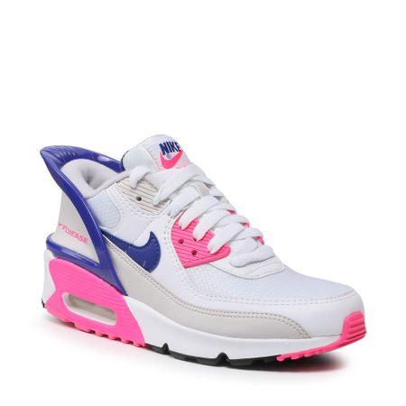 NIKE Air Max 90 Flyease (GS) CV0526 105 White/Concord/Pink Glow