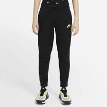 Nike Jogginghose NSW Tech Fleece - Schwarz/Neon Kinder