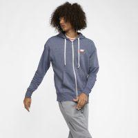 Nike Sportswear Heritage Herren-Hoodie mit durchgehendem Reißverschluss - Blau
