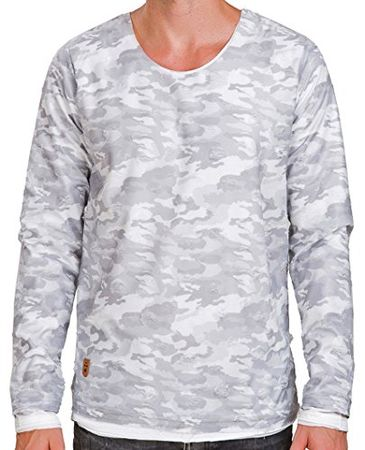 Red Bridge Männer Sweatshirt Pullover Double-Layer Camouflage Destroyed Longsleeve
