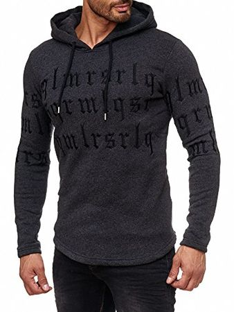Redbridge Herren Hoodie Kapuzenpuller Pullover Sweatshirt Gothic Codes Hoody M2123 (S, Anthrazit)