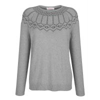 Relaxed by TONI Pullover grau Damen Gr. 42