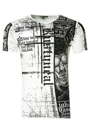 Rusty Neal T-Shirt mit stylischem All-Over-Print