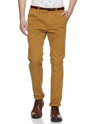 Scotch & Soda Herren Hose NOS Stuart - Slim fit Cotton/elastan Garment Dyed Chino Pant Braun (Walnut N1) 36 (Herstellergröße: 36/32)