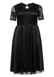 Sheego Abendkleid mit Spitze und elastischem Smokeinsatz