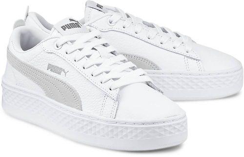 Smash Platform L von Puma in weiß für Mädchen. Gr. 42