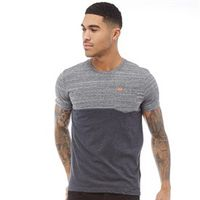 Superdry Herren Graduate Block Stripe T-Shirt Graumeliert